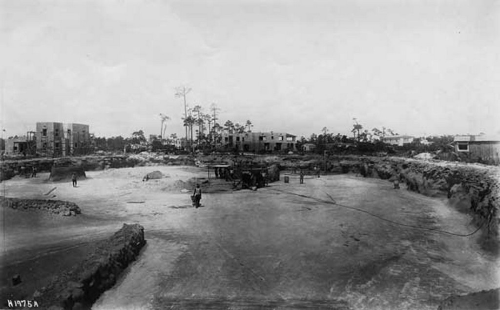 Quarry and construction at Venetian Pool site 1923